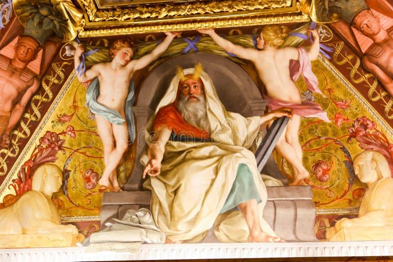 Renesansowy obraz przy Watykańskim muzeum zdjęcie stock