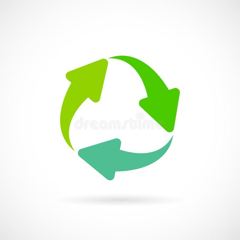 Renew arrow cycle vector symbol stock illustration