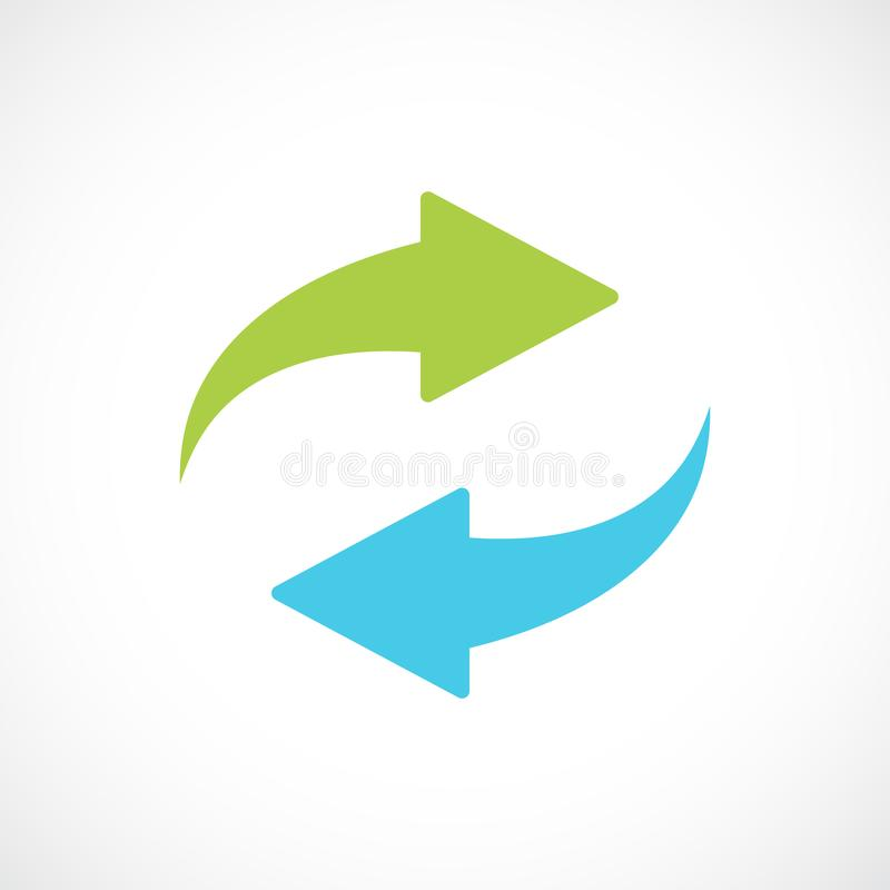 Renew arrows vector symbol vector illustration