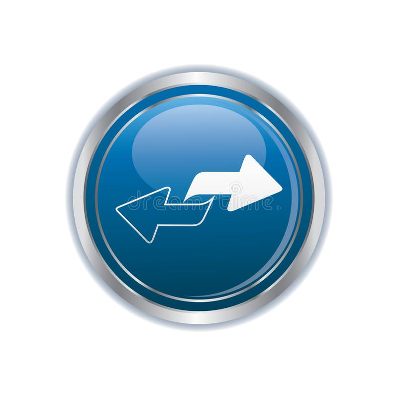 Renew icon on the button vector illustration