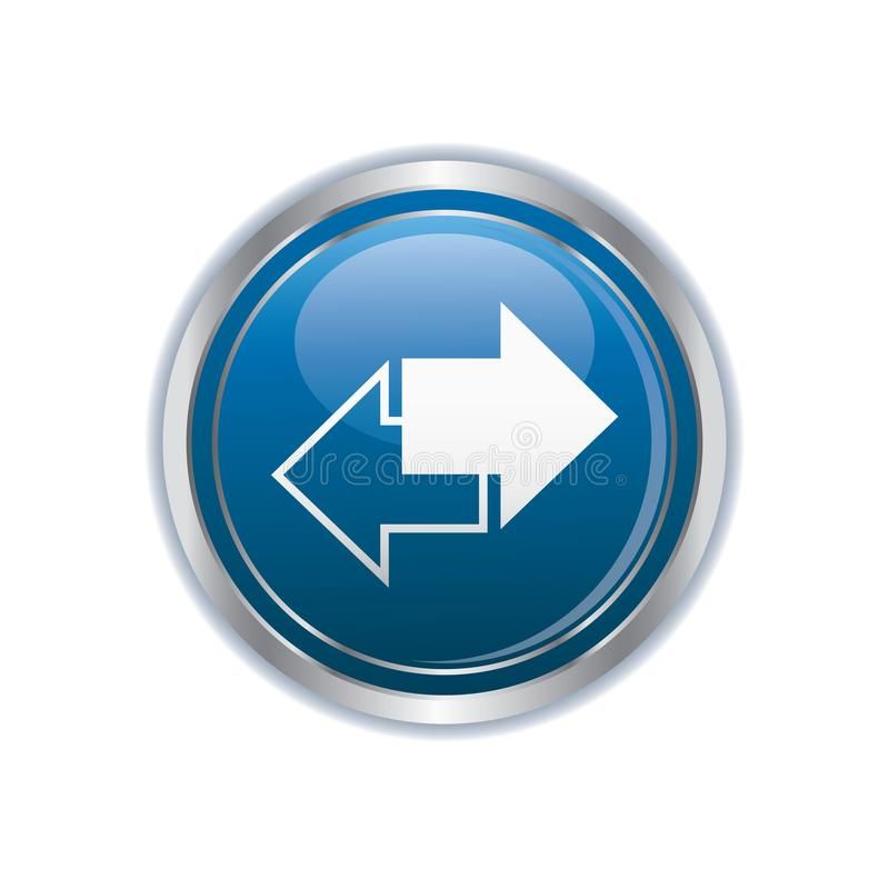 Renew icon on the button royalty free illustration