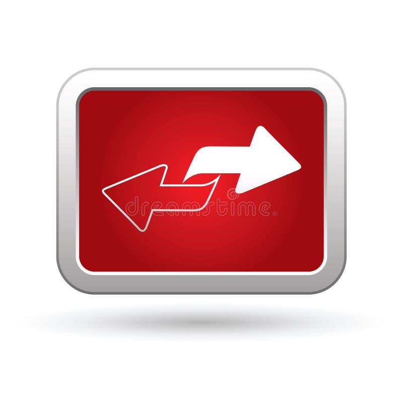Renew icon on the button stock illustration