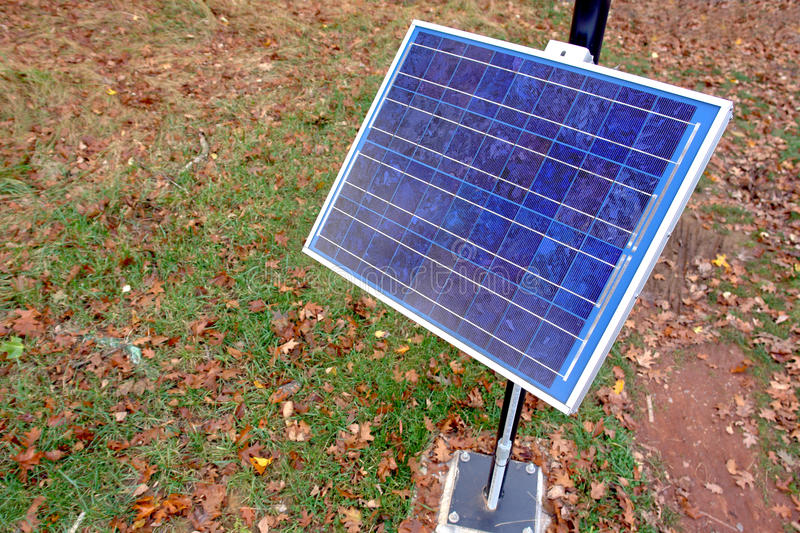 Renewable Clean Green Energy Solar Panel in Park royalty free stock photo