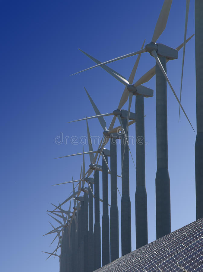 Renewable energy. View more environmentally friendly and renewable energy sources that do not pollute the human environment stock photo