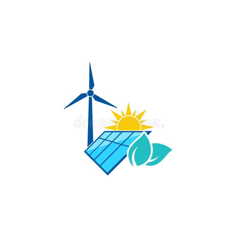 Renewable energy icon isolated on white background. Simple vector illustration royalty free illustration