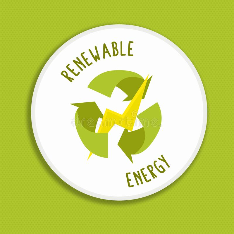 Free Renewable Energy Label Icon For Green Power Royalty Free Stock Photography - 190721717