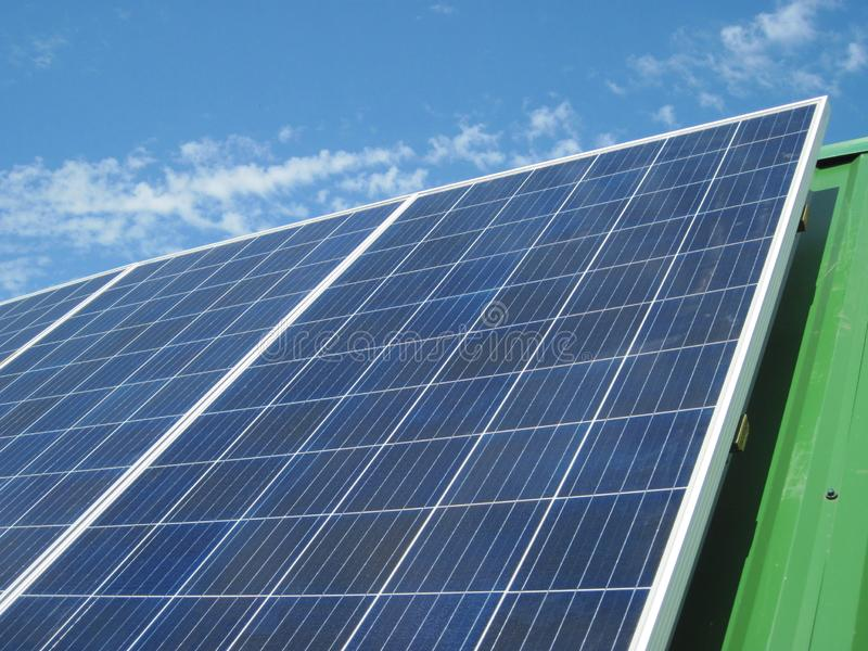 Renewable energy - photovoltaic cells - solar panels for domestic use. Renewable energy sources - solar batteries. photoelectric elements in household use. Solar royalty free stock images