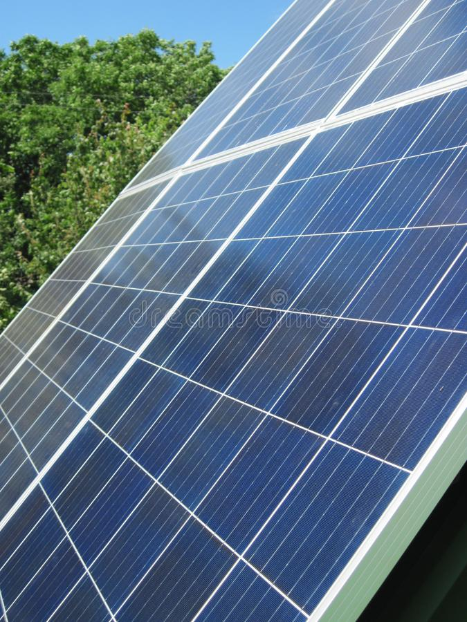 Renewable energy - photovoltaic cells - solar panels for domestic use. Renewable energy sources - solar batteries. photoelectric elements in household use. Solar royalty free stock photo
