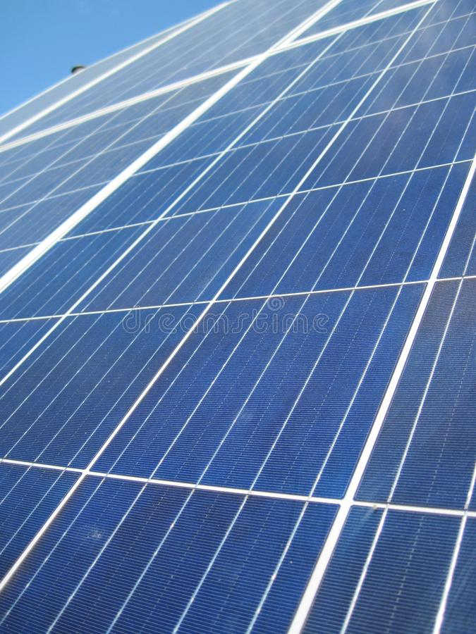 Renewable energy - photovoltaic cells - solar panels for domestic use. Renewable energy sources - solar batteries. photoelectric elements in household use. Solar stock photo
