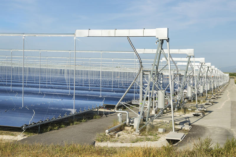 Renewable Energy: Solar as the best way to produce green energy stock photography