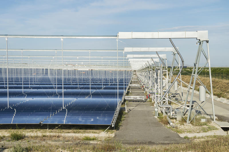 Renewable Energy: Solar as the best way to produce green energy stock image
