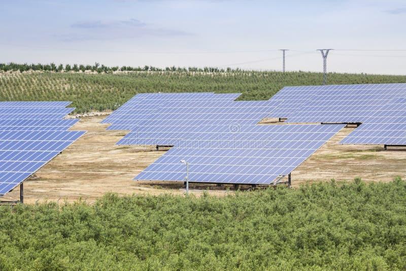 Renewable energy- Solar energy. Solar panels as source of renewable ecologic energy stock images