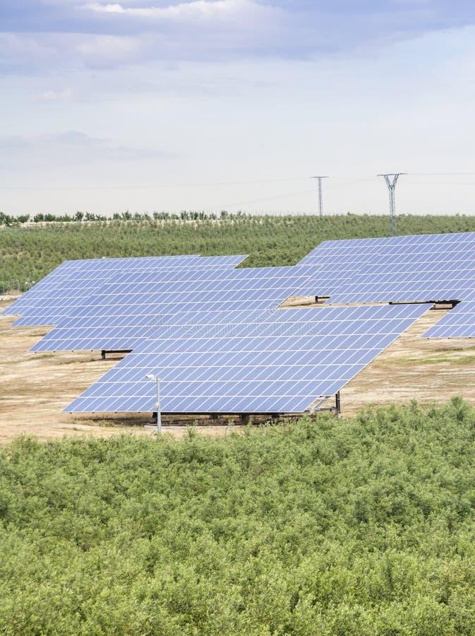 Renewable energy- Solar energy. Solar panels as source of renewable ecologic energy stock photos