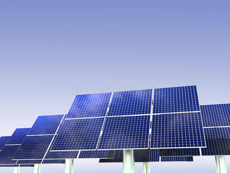 Renewable Energy - Solar Panels royalty free stock image