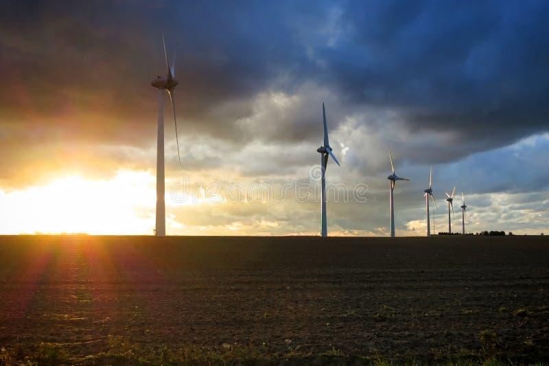 Renewable Energy Wind Power Windmill Turbines stock photos