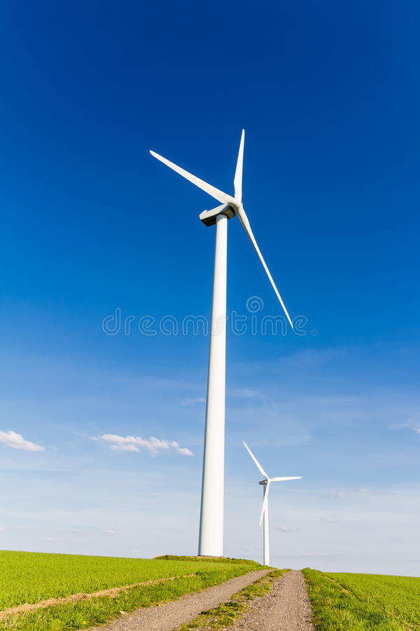 Download Renewable Energy By Wind Turbine Stock Image - Image of sunset, rotor: 92066791