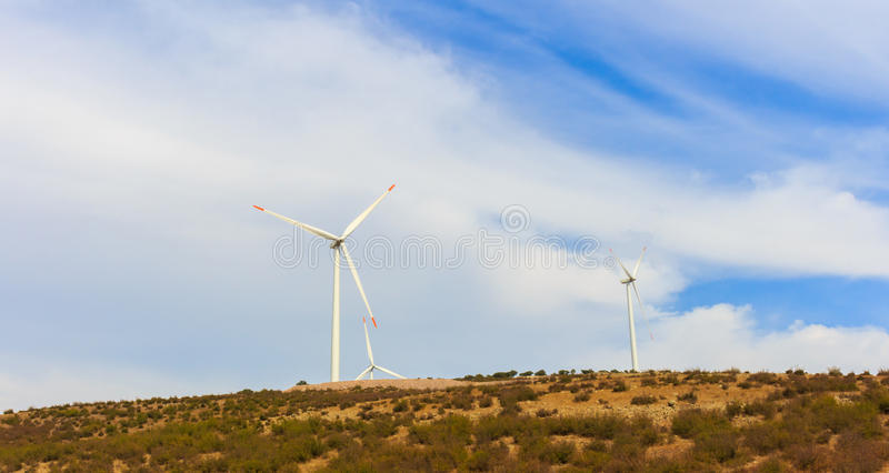 Renewable energy wind vane. Alternative energy wind vane. natural resources for a green world royalty free stock photography