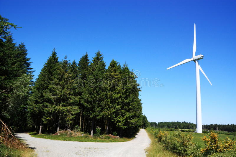 Renewable Energy Wind And Wood Royalty Free Stock Photos