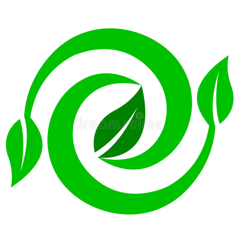 Renewable environment logo. Illustration of renewable environment logo design isolated on white background stock illustration