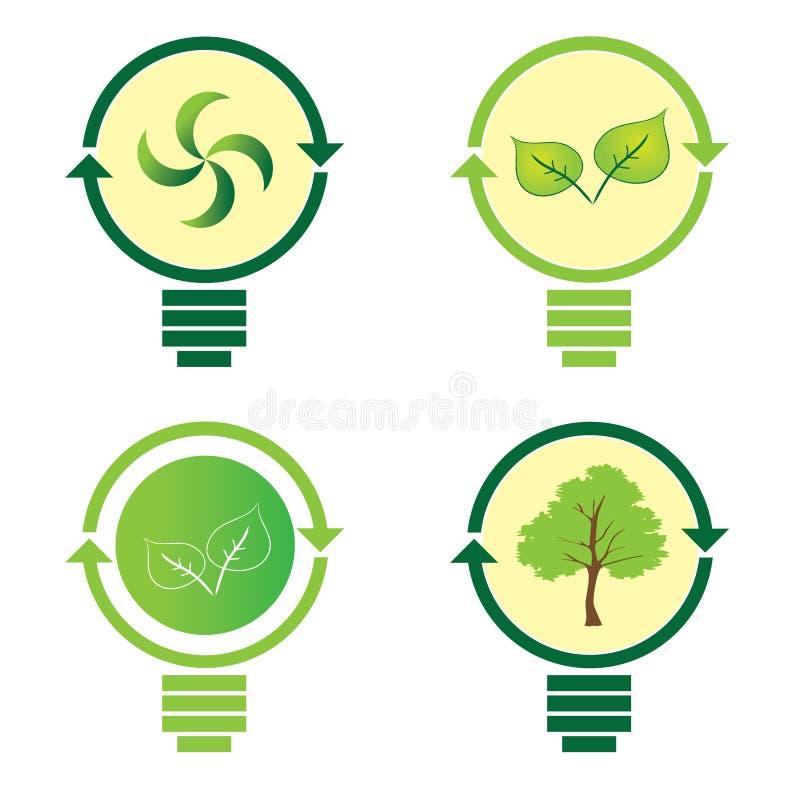 Download Renewable Green Energy: 4 Light Bulb Stock Vector - Image: 20549172