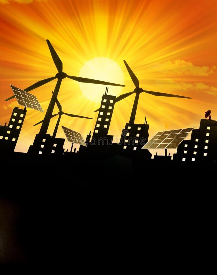 Free Renewable Green Energy Background Stock Photography - 13239082