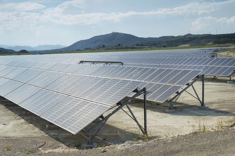Renewable resorce: Solar - production of natural energy royalty free stock images