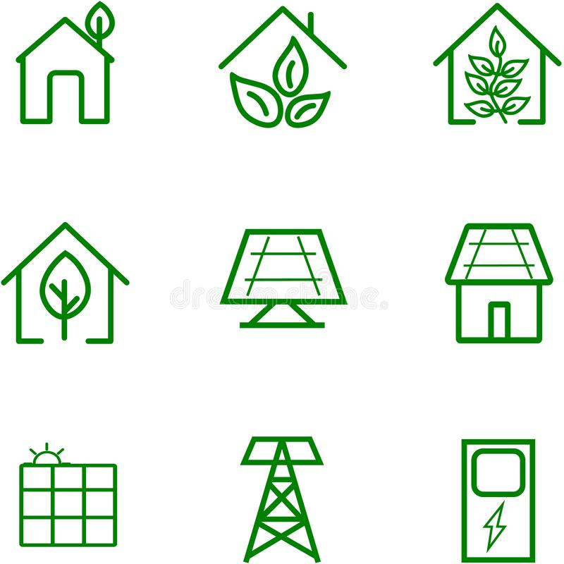 Renewal energy of the sun for design stock illustration