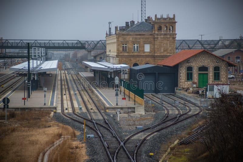 Train station of Zamora, Spain. Renfe`s railway station in Zamora Spain stock image
