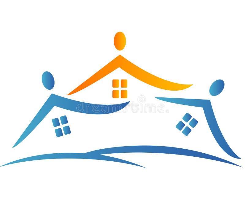 Renferme Le Logo De Voisinage Image stock