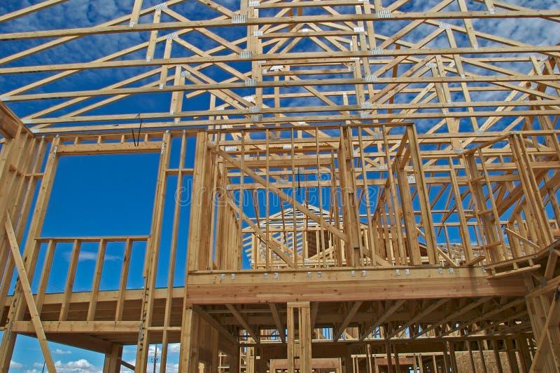 Renfermez la construction. photographie stock