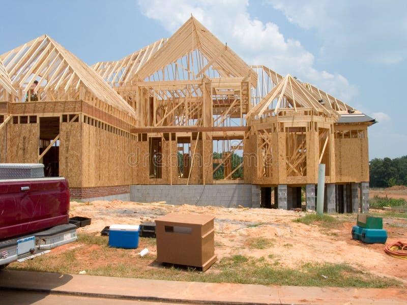 Renfermez la construction photo stock