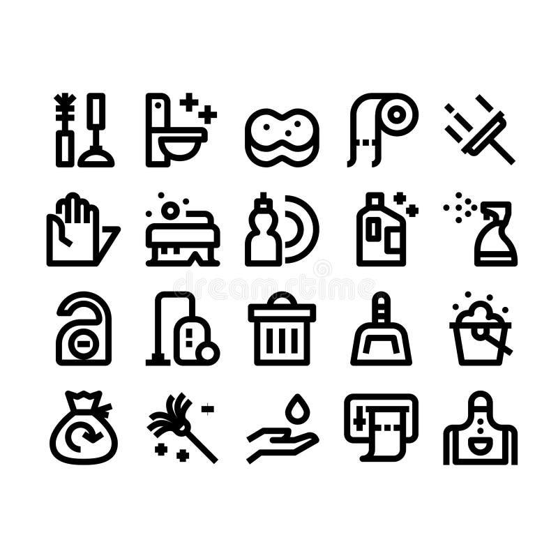 Rengörande översiktssymboler vektor illustrationer