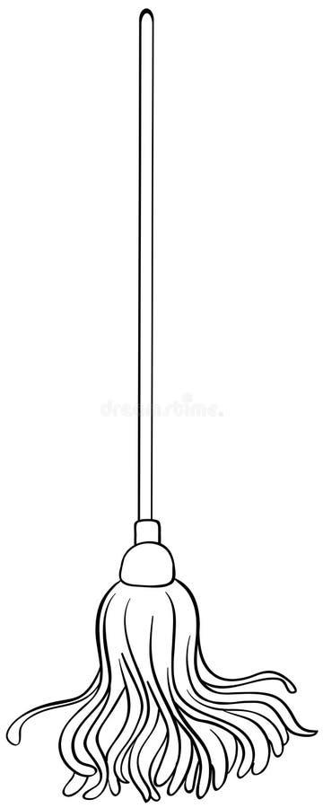 Rengörande golvmopp vektor illustrationer