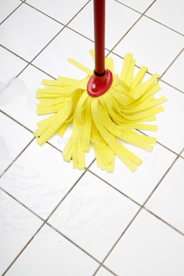 Rengörande golvmopp, slut upp royaltyfri foto
