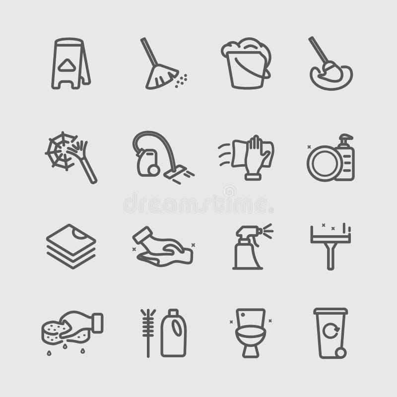 Rengörande linje symbol royaltyfri illustrationer