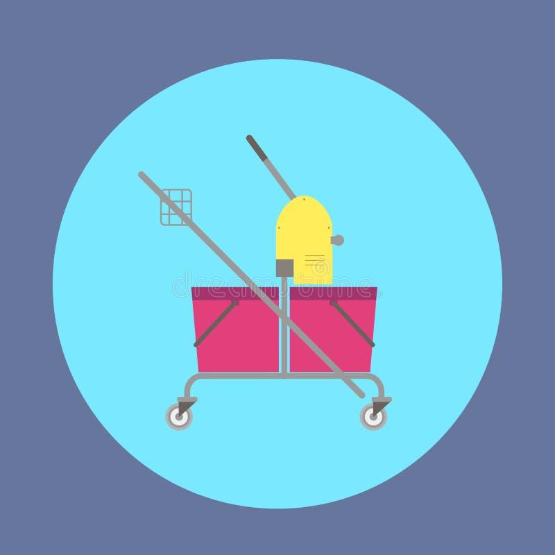 Rengörande tjänste- spårvagn vektor illustrationer