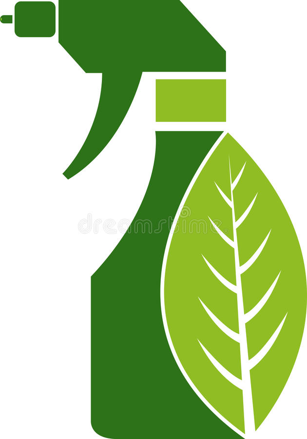 rengörande växt- spray royaltyfri illustrationer