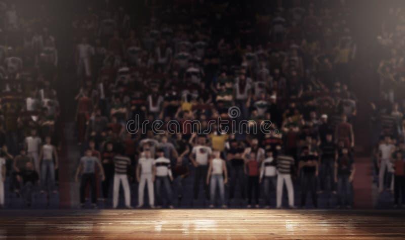 Rengöring för arena för domstol för yrkesmässig basket arkivfoton