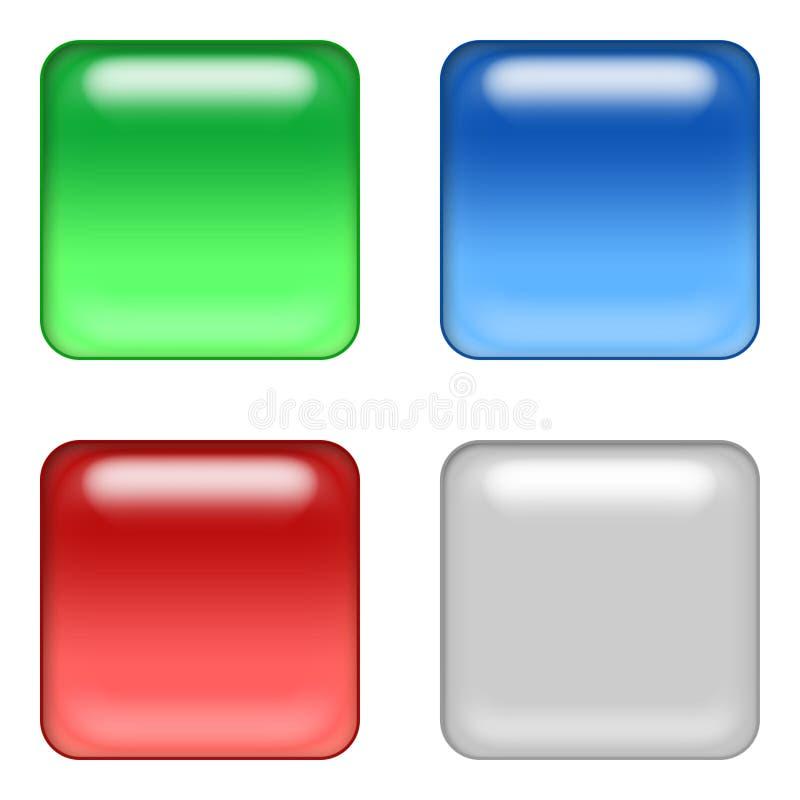 rengöringsduk för 4 knappar royaltyfri illustrationer