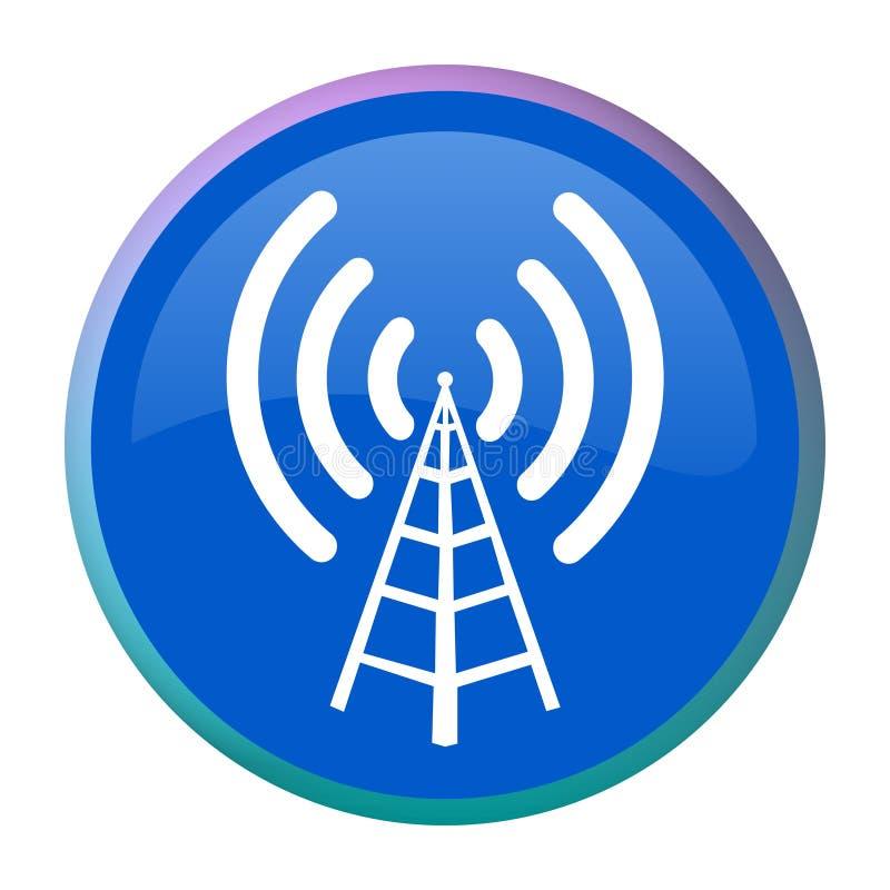 rengöringsduk för antennknappradio royaltyfri illustrationer