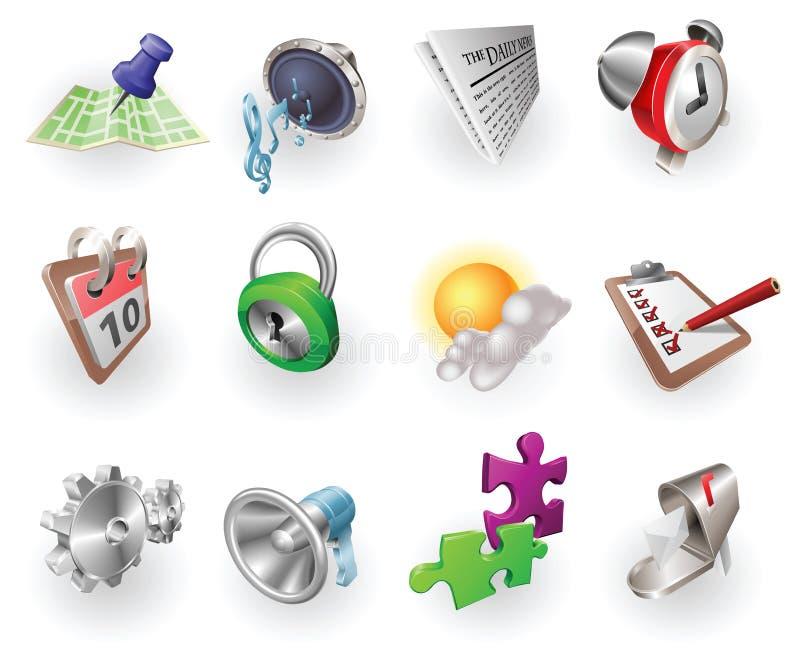 rengöringsduk för dynamisk symbol för applikationfärg set royaltyfri illustrationer