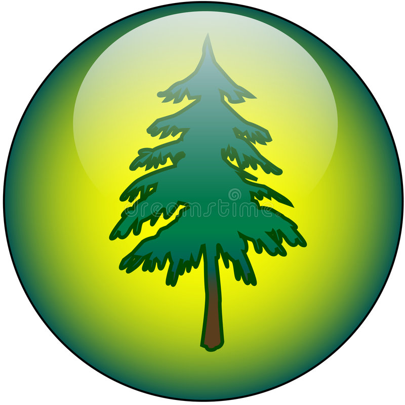 rengöringsduk för knapptree royaltyfri illustrationer