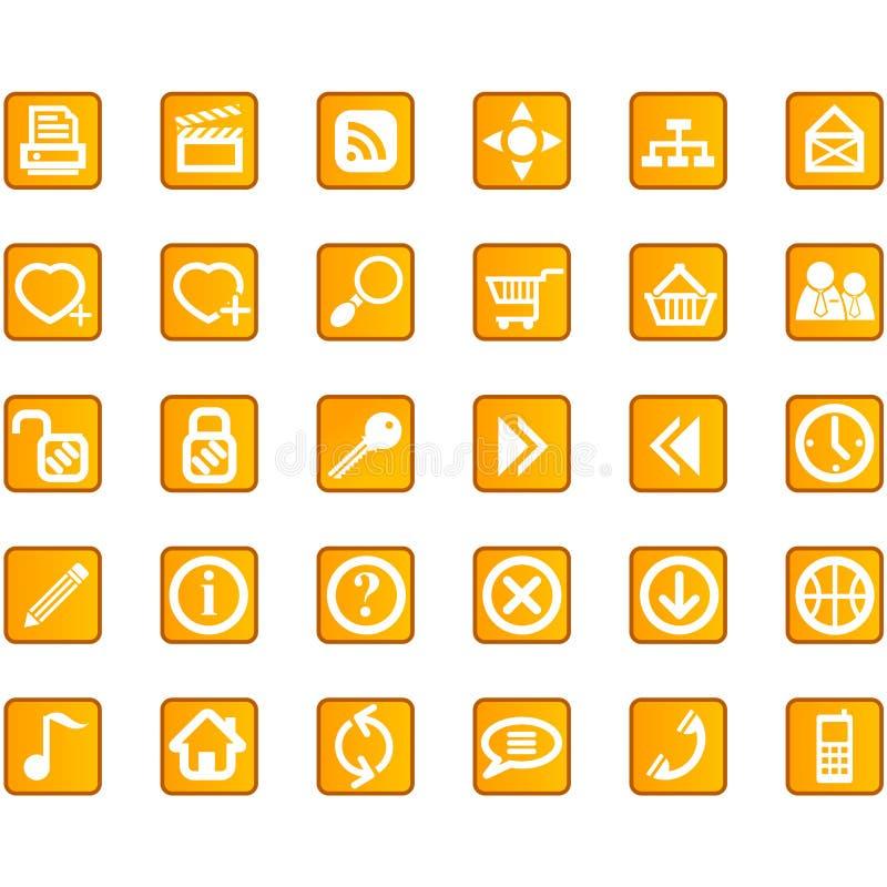 rengöringsduk för lokal för symbolsinternet set royaltyfri illustrationer