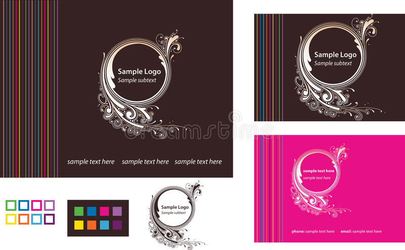 rengöringsduk för mall för logo för affärskort royaltyfri illustrationer