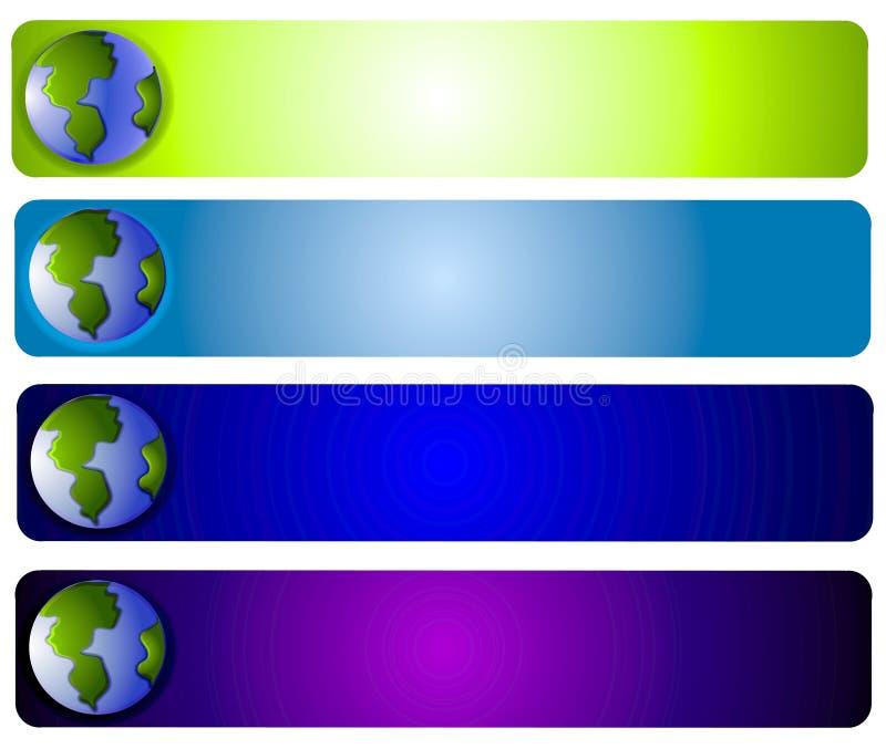 rengöringsduk för planet för jordlogosida royaltyfri illustrationer