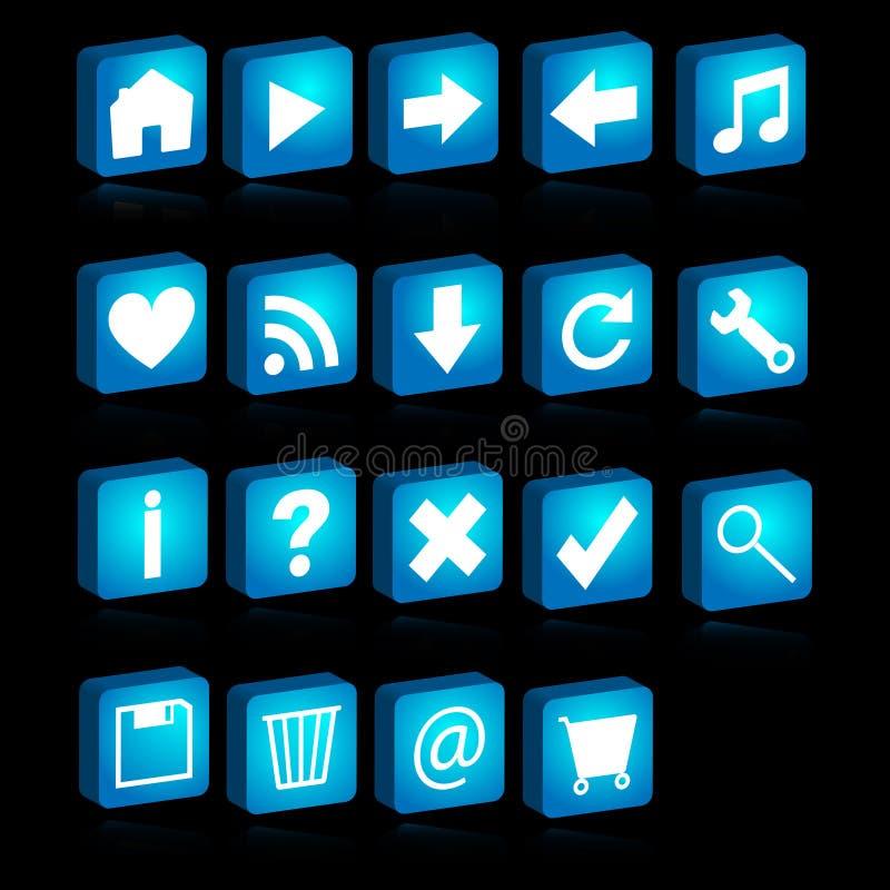 rengöringsduk för symboler 3d royaltyfri illustrationer