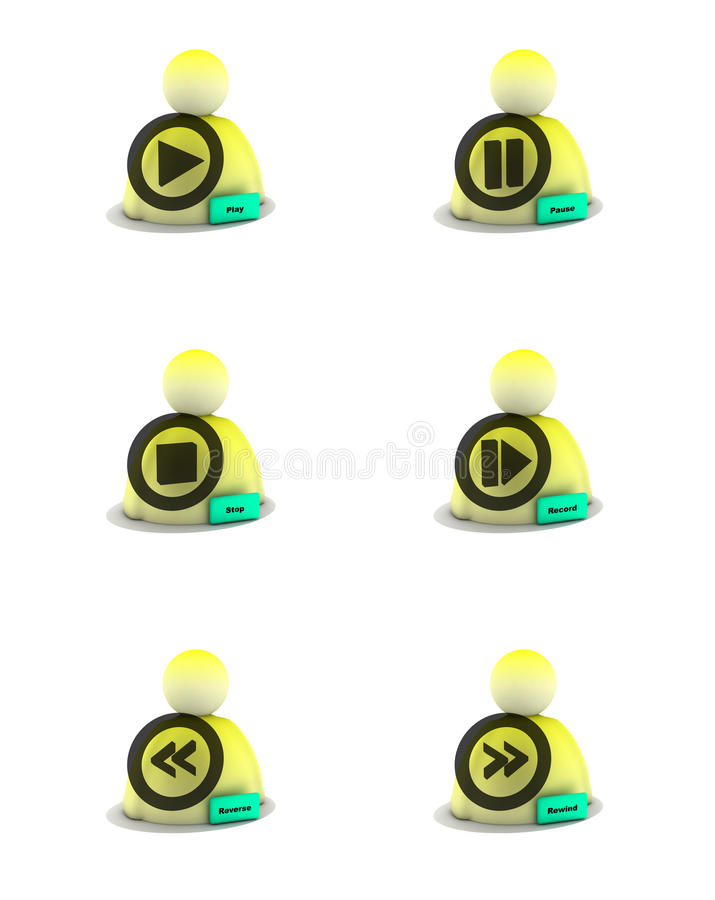rengöringsduk för symbolsmusikvideo vektor illustrationer