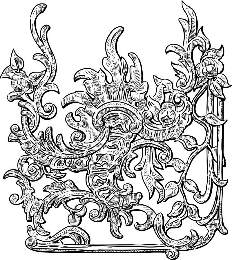 rengöringsduk för tappning för blom- för hälsning för element för bakgrundskortdesign mall för sida universal stock illustrationer