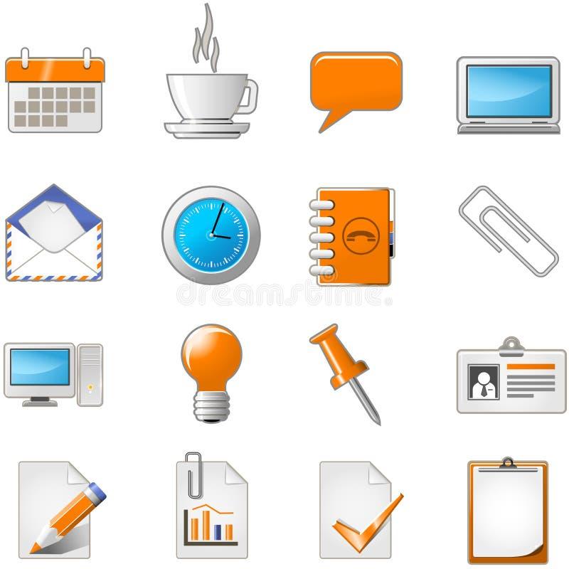 rengöringsduk för tema för symbolskontorssida set royaltyfri illustrationer