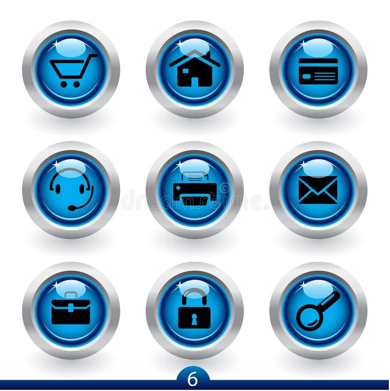 rengöringsduk för universal för 6 symbolsserie royaltyfri illustrationer